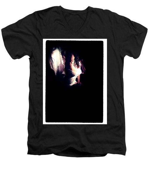 A Taste Of Film Noir Fetish Men's V-Neck T-Shirt by Lon Casler Bixby