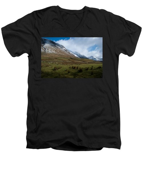 A View In The Mountains Men's V-Neck T-Shirt