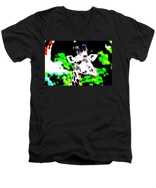 Abstract Giraffe Men's V-Neck T-Shirt