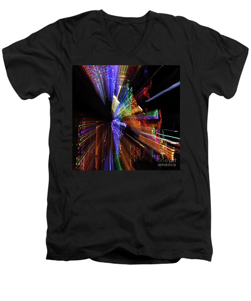 Abstract Lights Men's V-Neck T-Shirt