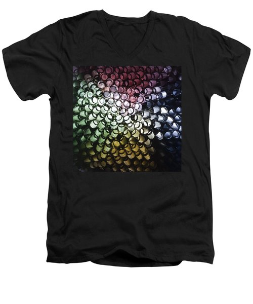 Men's V-Neck T-Shirt featuring the photograph Abstract Straws by Steve Purnell