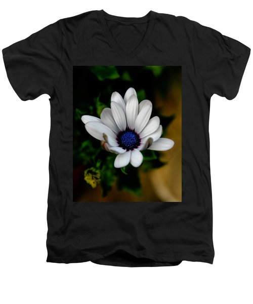 Men's V-Neck T-Shirt featuring the photograph African Daisy by Lynne Jenkins