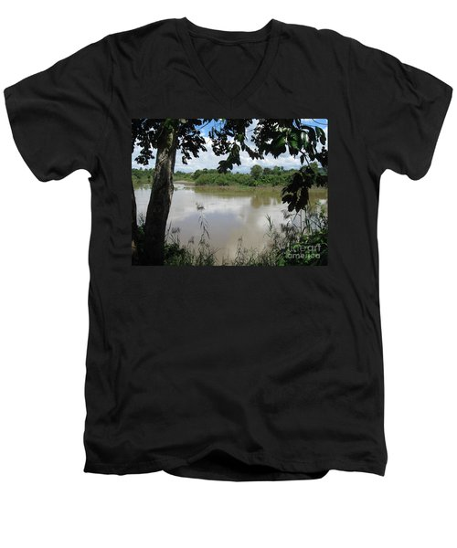 Agusan River Near Ja Pao Men's V-Neck T-Shirt