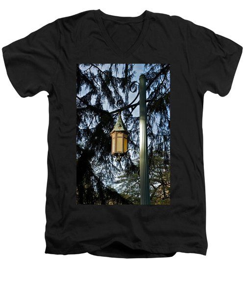 Men's V-Neck T-Shirt featuring the photograph Akers Night by Joseph Yarbrough