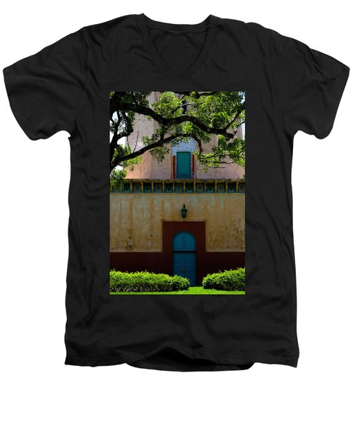 Alhambra Water Tower Doors Men's V-Neck T-Shirt