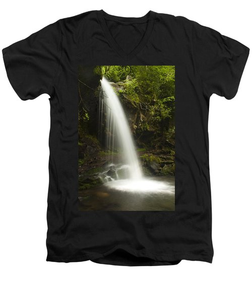 Alongside Grotto Falls Men's V-Neck T-Shirt