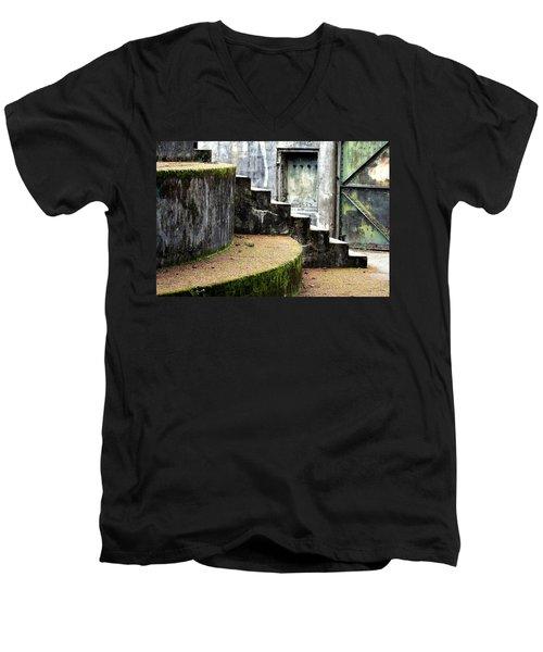 An Abandoned Fortress Men's V-Neck T-Shirt