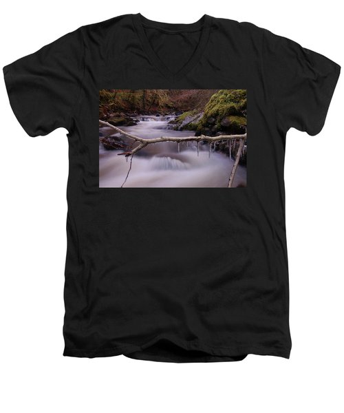An Icy Flow Men's V-Neck T-Shirt