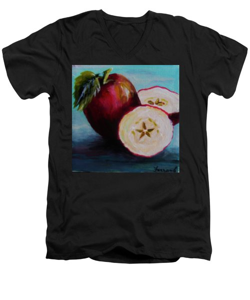 Apple Magic Men's V-Neck T-Shirt