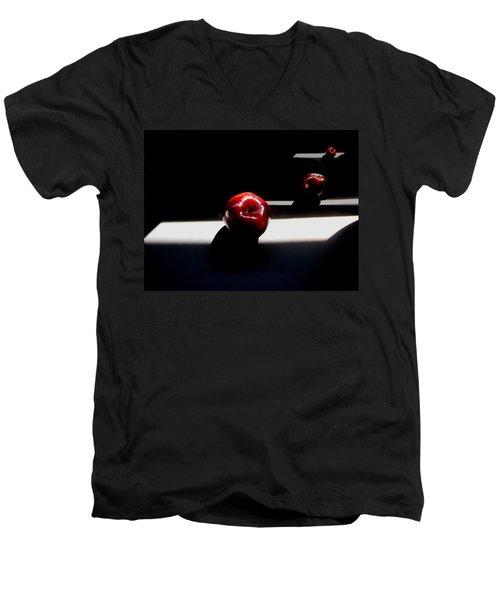 Apple Still Life 1 Men's V-Neck T-Shirt by Cedric Hampton
