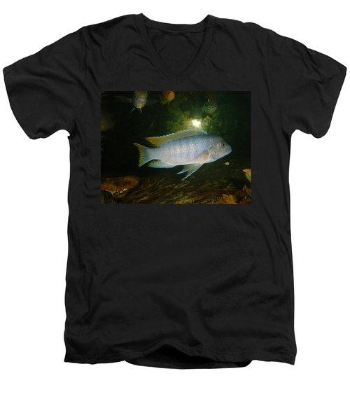 Men's V-Neck T-Shirt featuring the photograph Aquarium Life by Bonfire Photography