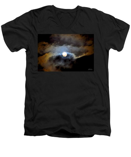 Aquarius Full Moon Men's V-Neck T-Shirt