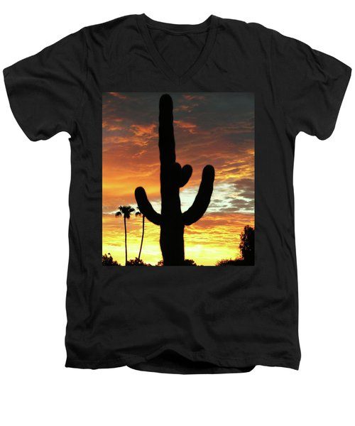 Arizona Sunrise 01 Men's V-Neck T-Shirt by Rand Swift