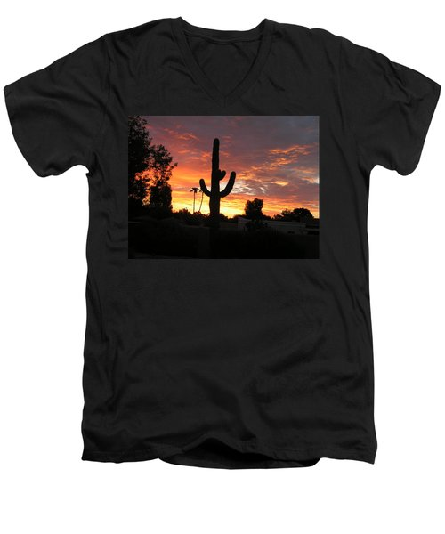 Arizona Sunrise 03 Men's V-Neck T-Shirt by Rand Swift