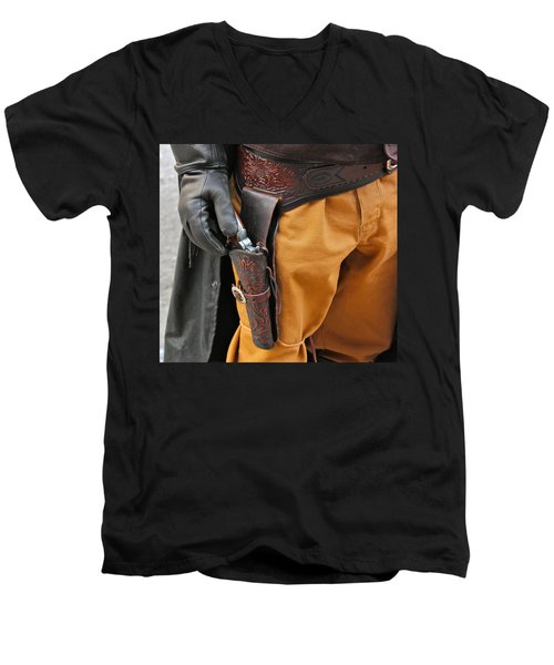 Men's V-Neck T-Shirt featuring the photograph At The Ready by Bill Owen