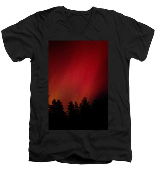 Aurora 01 Men's V-Neck T-Shirt by Brent L Ander