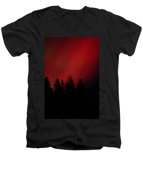 Aurora 02 Men's V-Neck T-Shirt by Brent L Ander