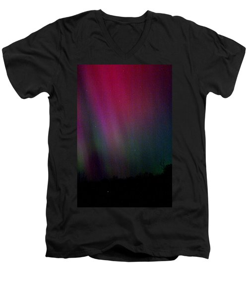 Aurora 03 Men's V-Neck T-Shirt by Brent L Ander