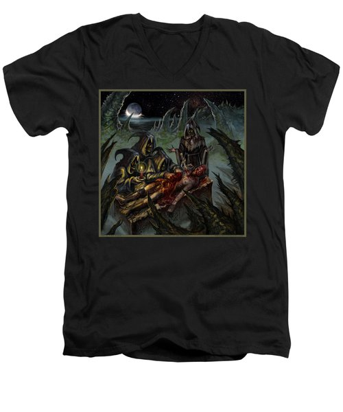 Autopsy Of The Damned  Men's V-Neck T-Shirt by Tony Koehl
