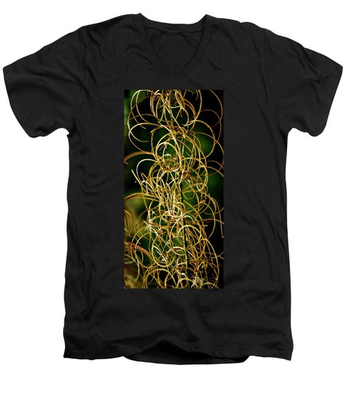 Men's V-Neck T-Shirt featuring the photograph Autumn Fireweed by Albert Seger