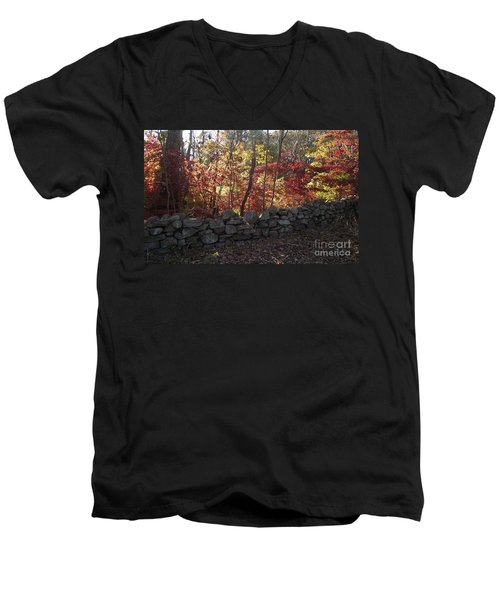 Autumn In New England Men's V-Neck T-Shirt