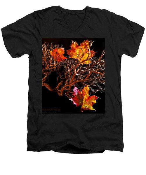 Autumnal Feelings Men's V-Neck T-Shirt
