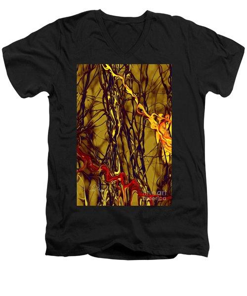 Shapes Of Fire Men's V-Neck T-Shirt