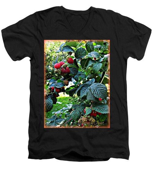 Backyard Berries Men's V-Neck T-Shirt