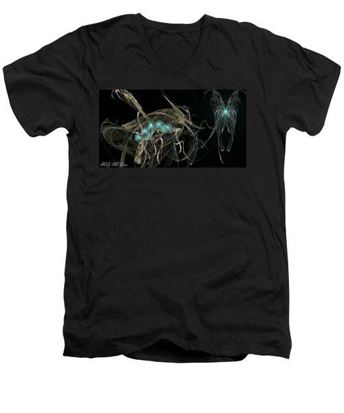 Ballerina Butterfly Men's V-Neck T-Shirt