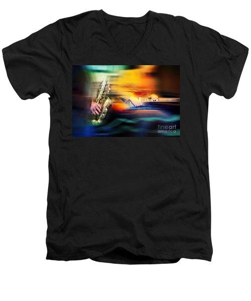 Basic Jazz Instruments Men's V-Neck T-Shirt