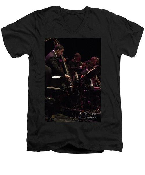 Bass Player Jams Jazz Men's V-Neck T-Shirt