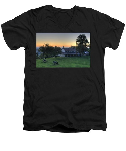 Battle Grounds Men's V-Neck T-Shirt