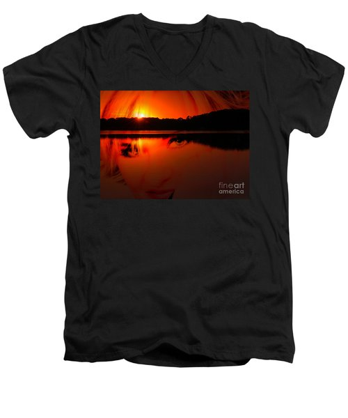 Men's V-Neck T-Shirt featuring the photograph Beauty Looks Back by Clayton Bruster