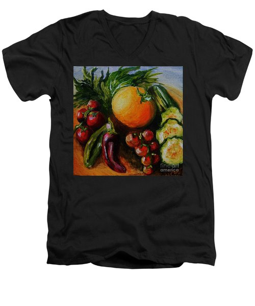 Beauty Of Good Eats Men's V-Neck T-Shirt