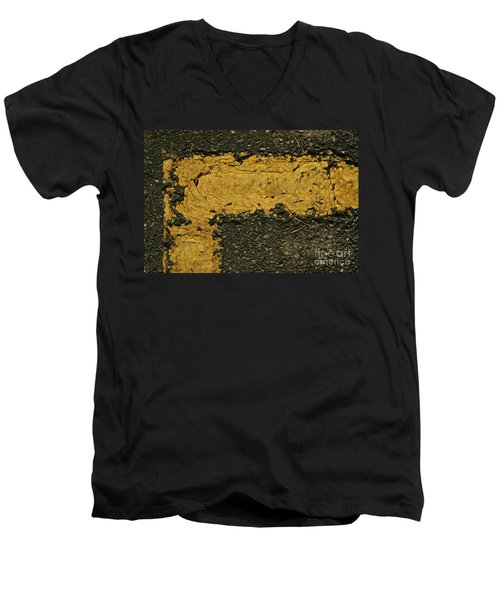 Behind The Yellow Line Men's V-Neck T-Shirt
