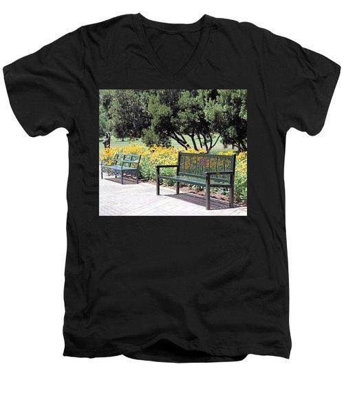 Benches  Men's V-Neck T-Shirt