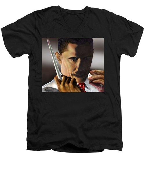 Obama Beyond Shark Waters Men's V-Neck T-Shirt