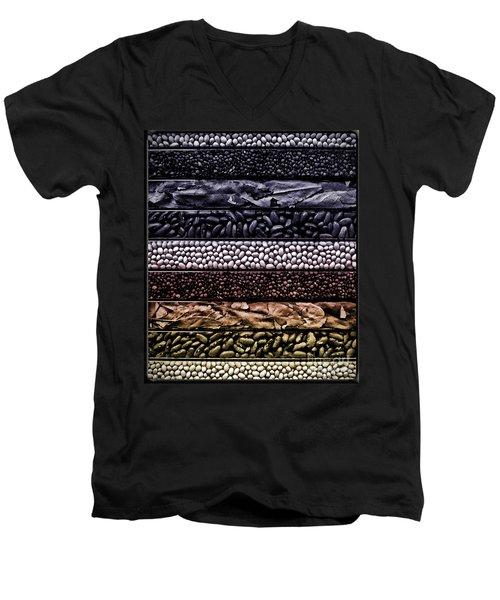 Beyond The Bean Seed Men's V-Neck T-Shirt by Danuta Bennett