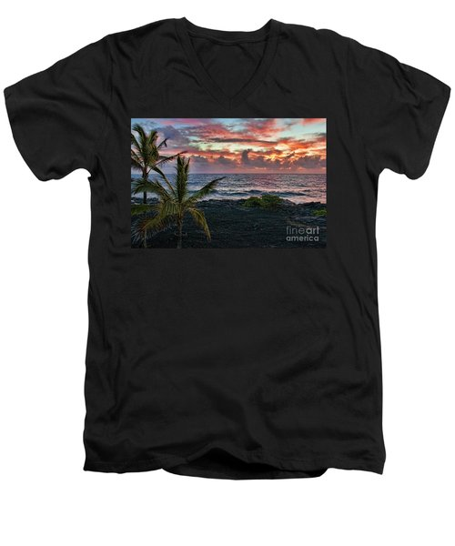 Big Island Sunrise Men's V-Neck T-Shirt