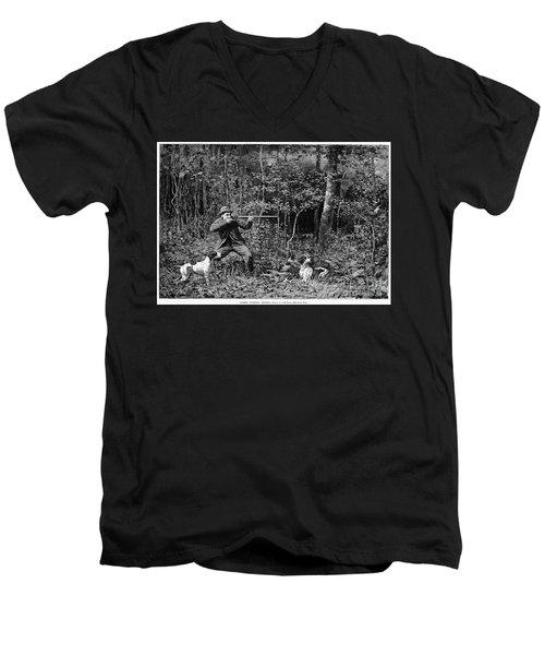 Bird Shooting, 1886 Men's V-Neck T-Shirt by Granger