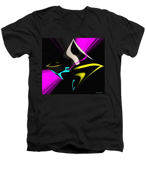 Men's V-Neck T-Shirt featuring the photograph Black Diamond by George Pedro