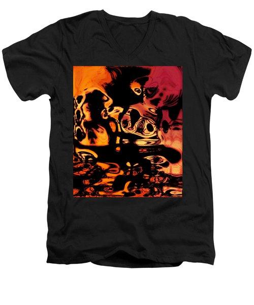 Blasphemy Swirls Men's V-Neck T-Shirt