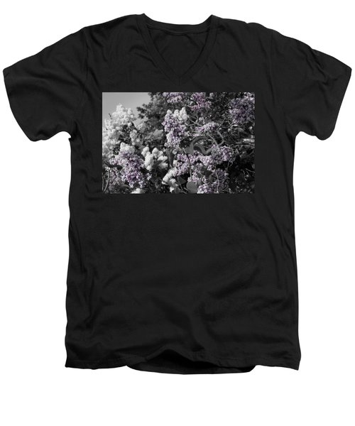 Men's V-Neck T-Shirt featuring the photograph Blooms by Colleen Coccia