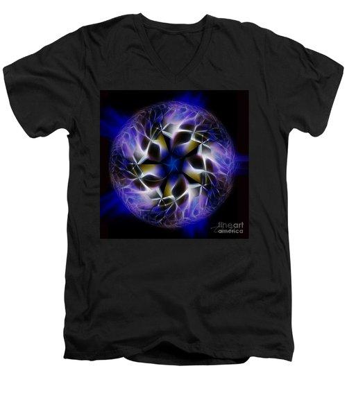 Blue Creation Men's V-Neck T-Shirt by Danuta Bennett