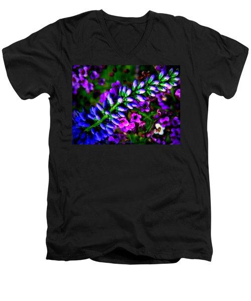 Blue Veronica Men's V-Neck T-Shirt by Chris Berry
