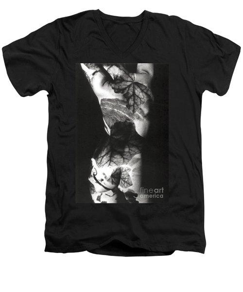 Body Projection Woman - Duplex Men's V-Neck T-Shirt