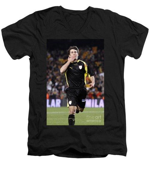 Bojan Krkic Celebrating A Goal 2 Men's V-Neck T-Shirt