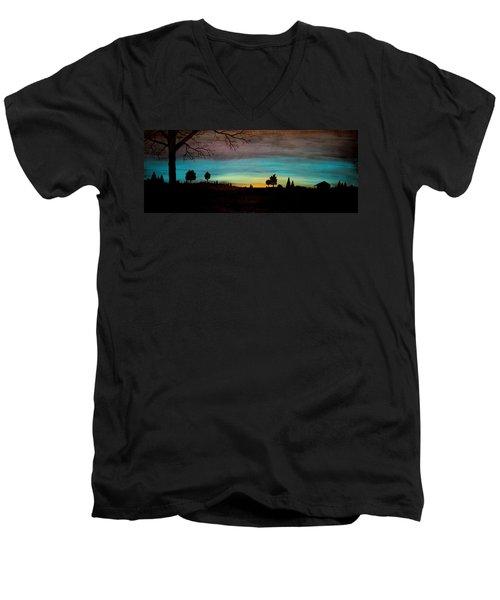 Brock's Cabin Men's V-Neck T-Shirt