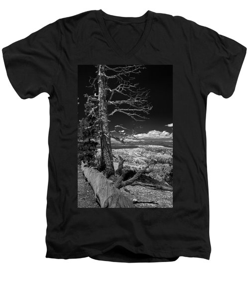 Bryce Canyon - Dead Tree Black And White Men's V-Neck T-Shirt