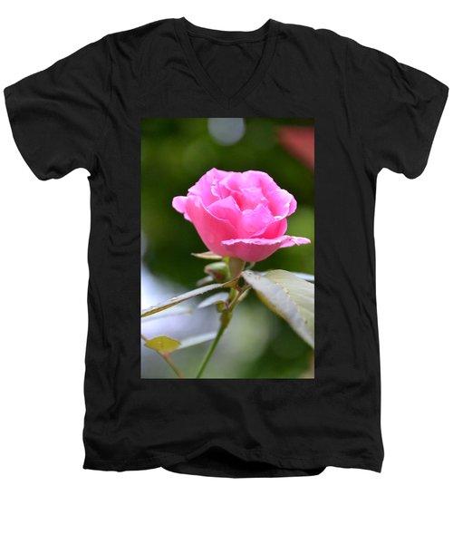 Bubblegum Rose Men's V-Neck T-Shirt